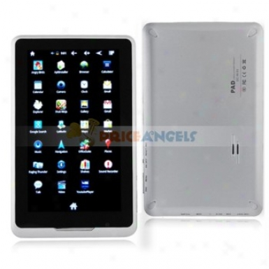 9100 7-inch Cpaacitive Screen Android 2.3 2gb Tablet Pc Laptop With Wi-fi/gps(silver)