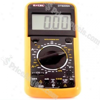 9205 Lcd Screen Digital Multimeter Volt Ohm Avometer(orange)
