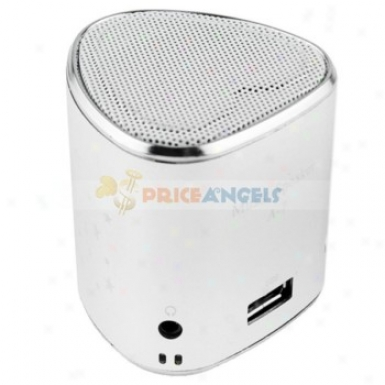 A-7 Portagle Usb Mini Speaker With Tf Card Slot/fm For Mp3/mp4 Player(silver)