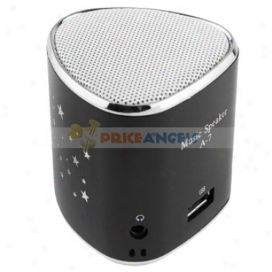 A-7 Portable Usb Mini Speaker With Tf Card Slot/fm In the place of Mp3/mp4 Player(black)