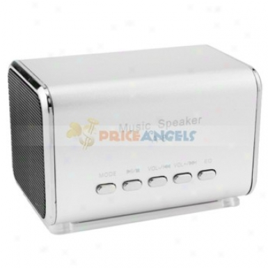 A-8 Portable Usb Mini Speaker With Tf Card Slot/fm On account of Mp3/mp4 Player(silver)