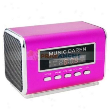 A-9 Portable Usb Mini Chairman With Tf Card Slot/fm For Mp3/mp4 Player(fuchsia)