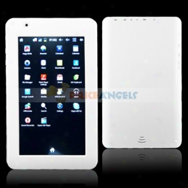 A11 4gb Android 4.0.3 Cortexa8/1.2g Mhz 7-inch Capacitive Lcd Touch Screen Tablet Pc Laptop With Wifi Camera(white)