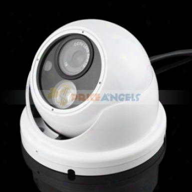 Ad-360 Hemisphere Type 420 Tv Lines Cctv Monitor Sony Ccd Security Camera(white)