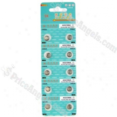 Ag2 Lr726 396 Sr726 196 1.55v Cell Button Batteries(10-pack)
