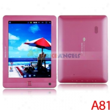 Ampe A81 8-inch Capacitive Touch Screen 8g Android 2.3.4 A10 1.5ghz Cpu Tablet Pc Laptop With Camera/wifi(pink)