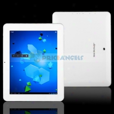 Ampe A90 9.7-inch Capacitive Touch Screen 8g Android 4.O Tablet Pc Laptop With Camera/wifi/3g Card(white)
