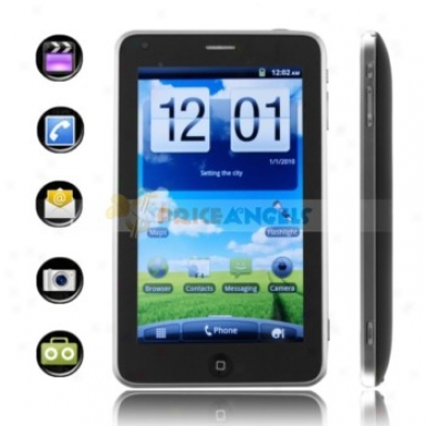 Android 2.2 650mhz Cpu 5-inch Capacitive Touch Screen Tablet Pc With Phone/bluetooth/wi fi/leather Cover(black)