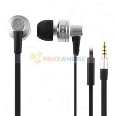 Awei 3.5mm Jack Noise Isolation In-ear Earphone With Microphone For Cell Phone/computer(sulver)
