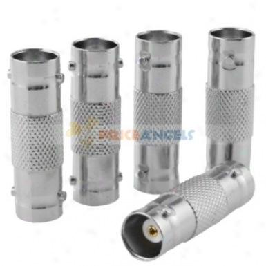 Bnc Female To Bnc Female Adapte5 Coax Cctv Video Connector(5-pack)
