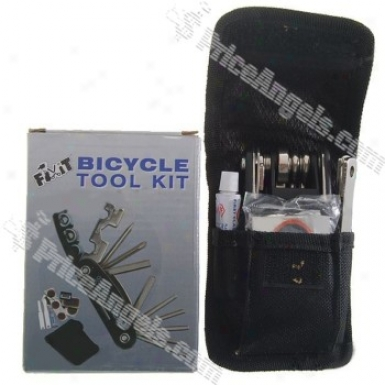Chromed Steel Bicycle Repair Tool Kit (21-tool Set)