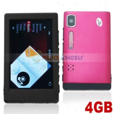 Classic 3.0-inch Screen 4gb Mp4 Mp5 Medi Performer With Tf Slot Fm Came5a(red)