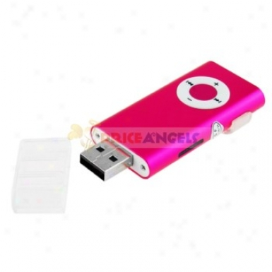 Clop-style Portable Usb Mp3 Media Player Wit hTf Slot(pink)