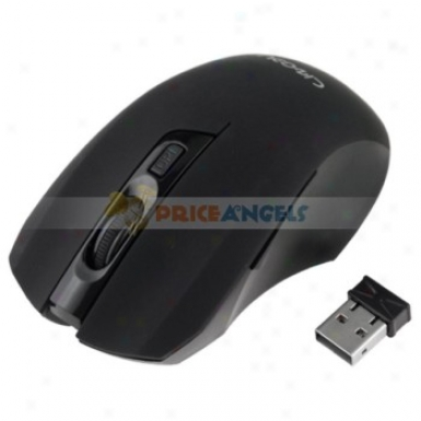 Comfortable 10m 2.4g 1600dpu Usb2.0 Gaming Wireless Optical Mouse For Pc Laptop(black)
