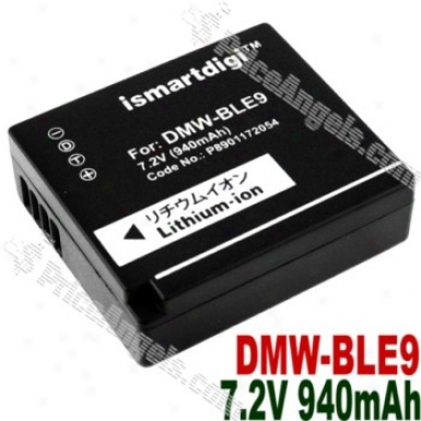 Compatible Li-ion Battery Dmw-ble9 For Panasonic Dmc-gf3/dmc-gf3c-k-black