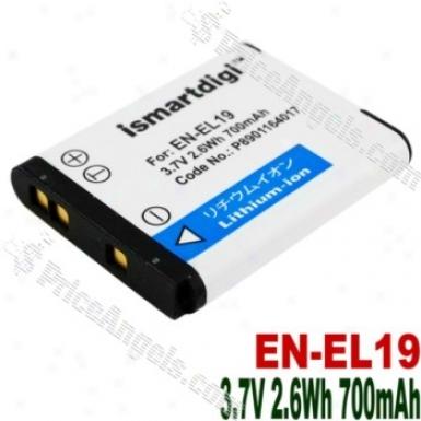 Compatible Li-ion Battery En-el19 For Nikon Coopix S4100/coolpix S3100
