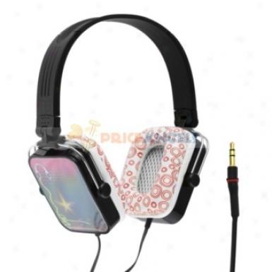 Cool Pattern Folded 3.5mm Stereo Super Bass Headset Headphone Earphone(black)