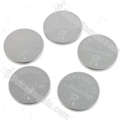 Cr2032 3v Button Cell Lithium Battery(5-pack)