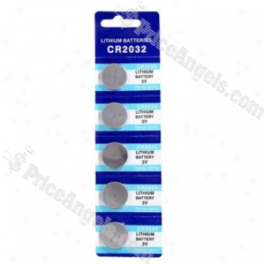 Cr2032 3v Cell Button Battery (5-pack)