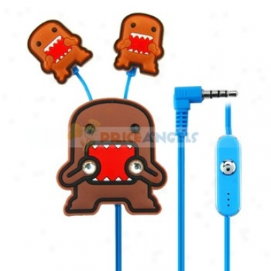 Creative Carfoon Domo Style Crystal 3.5mm In-ear Earphone With Microphone/clip