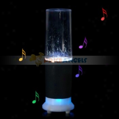 Creative Design Irrigate Dancing Touch Sensor Led Table Lam Wpith Mini Speaker(black)