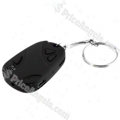 Creative Pin-hole Rechargeable Car Key S0y Camera-tf Card Slot(black)