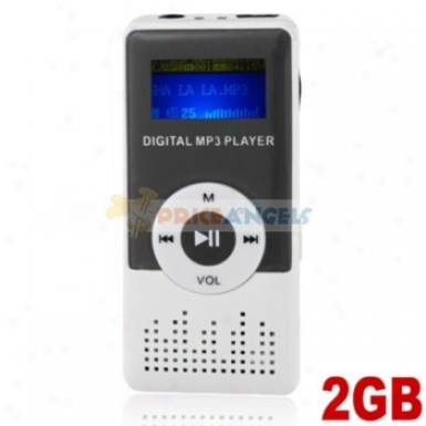 Cute 2gb Mp3 Media Player With Louder Speaker(blac)k