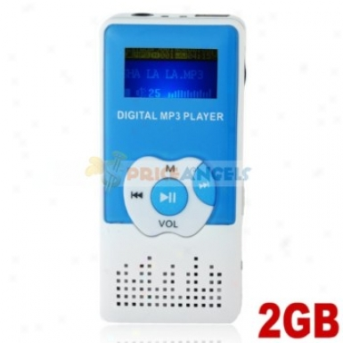 Cute 2gb Mp3 Media Player Woth Louder Speaker(blue)