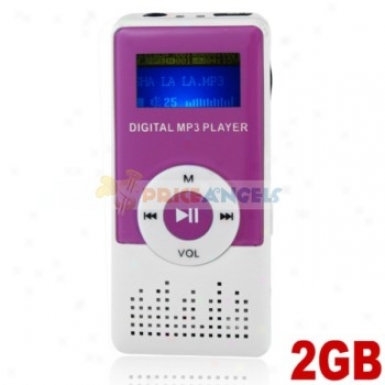 Cute 2gb Mp3 Media Player With Louder Speaker(violet)