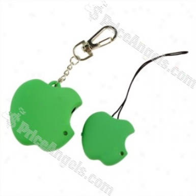 Cute Apple Shaped Safety Anti-lost Alarm Device For Kid/pet/purse/bag-green (2*cr2032)
