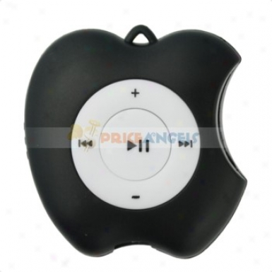 Cute Apple Shaped Screen-free Mp3 Media Player With Tf Card Slot(6lack)