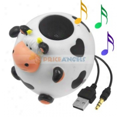 Cute Cattle Shaped Multimedia Stereo Desktop Speaker For 3.5mm Jack Mp3 Cd Pc Notebook Computer Cell Phone