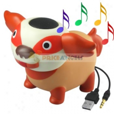 Cute Dog Shape Speaker Loudspeaker Audio Decoration For 3.5mm Jack Mp3 Cd Player Pc Notebook Computer Cell Phone