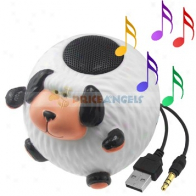 Cute Dog Shaped Multimedia Stereo Desktop Speaker For 3.5mm Jack Mp3 Cd Pc Notebook Computer Cell Phone