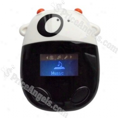 Cute Milk Cow Shaped Lcd 2gb Mp3 Multi-media Player (us Plug / White)