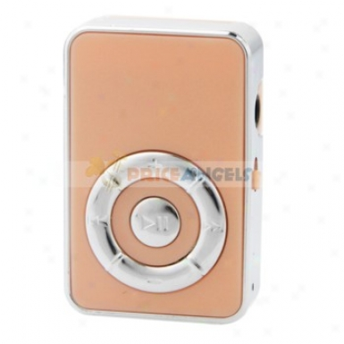 Cute Screen-free Spring-clasp Style Mp3 Media Ppayer With Tf Card Slot(pink)