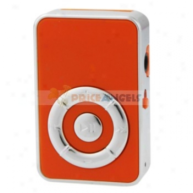 Cute Sc5een-free Clip Style Mp3 Media Player With Tf Card Slot(orange)
