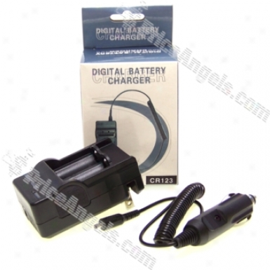Dc Car Charger For Cr123a Batteries 600ma