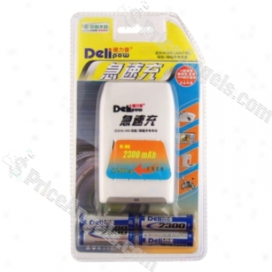 Delipow Dexterous Charger For Aa/aaa Ni-mh/nicd Batteries With 4x2300maah Aa Batteries