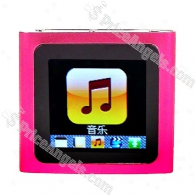 Designer's 1.5-inch Lcd Mp3/mp4 Portable Media Player With Fm Radio/g-sensor-pink(4gb)
