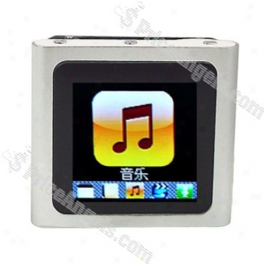 Designer's 1.5-inch Lcd Mp3/mp4 Portable Media Player With Fm Radio/g-sensor-silver(2gb)