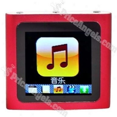 Designer's 1.5-inch Lcd Mp3/mp4 Portable Media Player With Fm Radio/g-sensor-red(4gb)