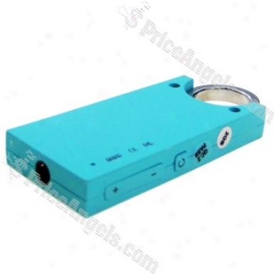 Designer's Mini Usb Slim Screen-free Mp3 Player - Light Blue (2gb)