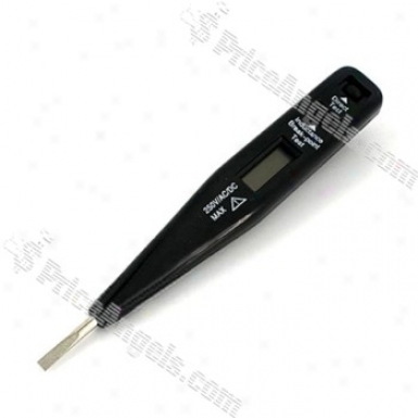 Digital 2v-250v Display Ac Dc Inductance Circuit Tester (black)