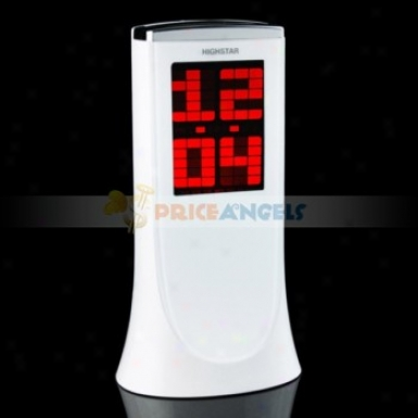 Digital Led Laser Promuection Call to arms Clock(white)