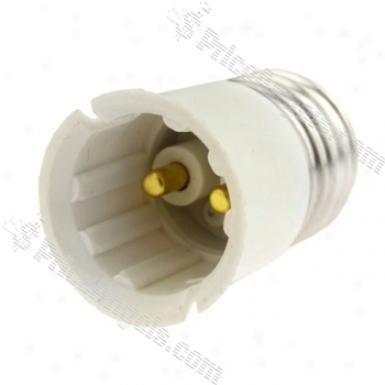 E27 To B22 Light Lamp Bulb Adapter Converter(white)