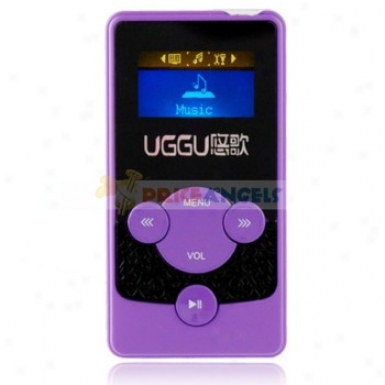 Esjing G38 2gb 1.1-inch Screen Stereo Mp3 Player With Speaker(purple)
