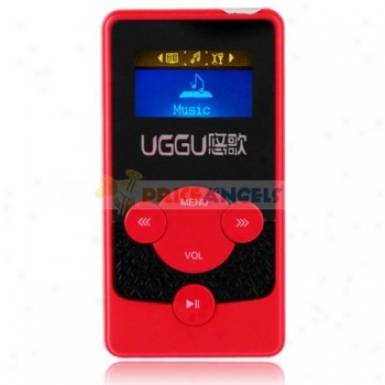 Esjing G38 2gb 1.1-inch Screen Stereo Mp3 Player With Speaker(red)