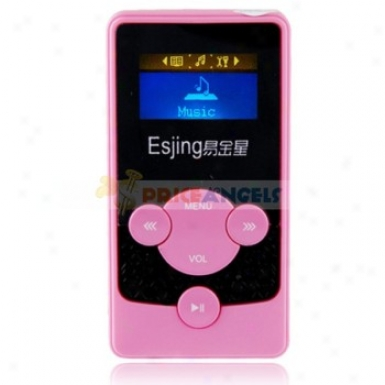 Esjinng G38 2gb 1.1-inch Screen Stereo Mp3 Player With Seaker(pink)