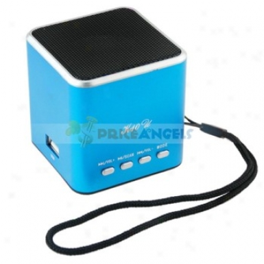 F-10u Sports Style Movable Usb Mini Speaker With Tf Card Slot/fm For Mp3/mp4 Player(blue)
